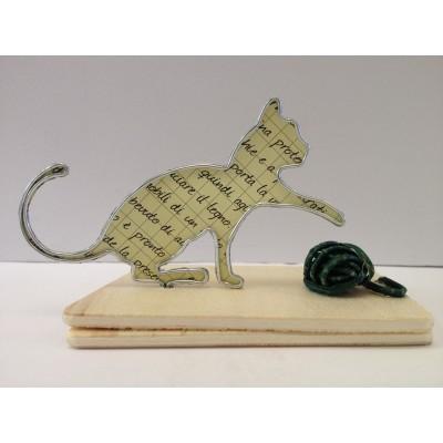 Gatto con gomitolo - in vendita online - libreria leggermente